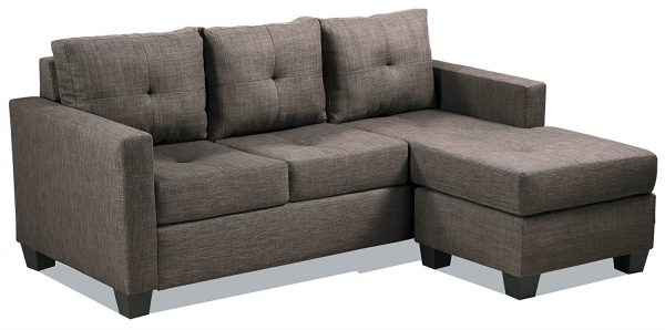 4. Homelegance Phelps Contemporary Tufted Sectional Sofa