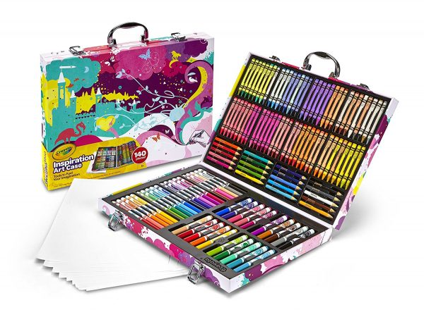 4. Crayola Inspiration Art Case - Pink, 140 Piece Art Set, Gifts for Kids and Adults