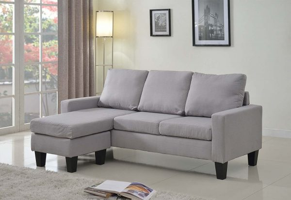 5. Home Life Linen Cloth Sectional Sofa