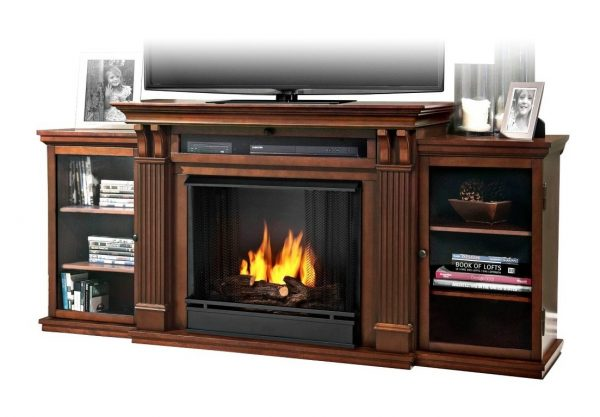 6. Calie Entertainment Gel Fireplace in Dark Espresso
