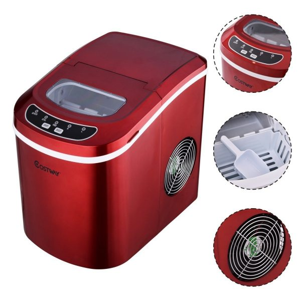 8. ostway Portable Compact Electric Ice Maker Machine Counter