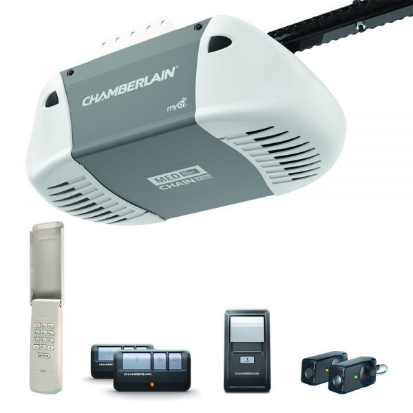 9. C410 Durable Chain Drive Garage Door Opener with Med Lifting Power