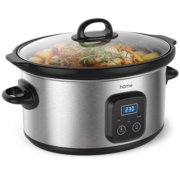 3. hOmeLabs 6 Quart Slow Cooker Pot - Digital Programmable Slow Cooker Crock