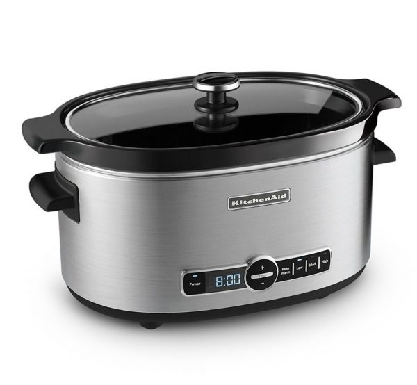 7. KitchenAid KSC6223SS 6-Qt. Slow Cooker with Standard Lid - Stainless Steel