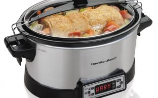 8. Hamilton Beach 33642 Programmable Right Size Slow Cooker, Multi-Quart