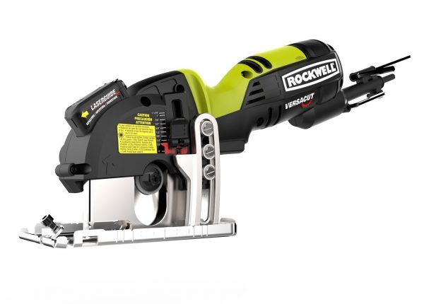 2. Rockwell RK3440K Versacut 4.0 Amp Ultra-Compact Circular Saw with Laser Guide and 3-Blade Kit with Carry Case