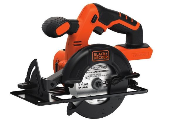 6. BLACK+DECKER BDCCS20B 20-Volt MAX Lithium-Ion Circular Saw Bare Tool, 5.5-Inch.