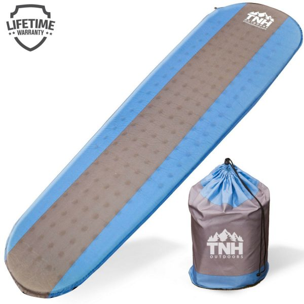 1. Premium Self Inflating Sleeping Pad Lightweight Foam Padding and Superior Insulation Great For Hiking & Camping Thick Outer Skin