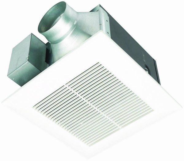 2. Panasonic FV-11VQ5 WhisperCeiling 110 CFM Ceiling Mounted Fan, White