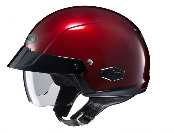 3. HJC IS-Cruiser Metallic Wine Half Helmet, XS