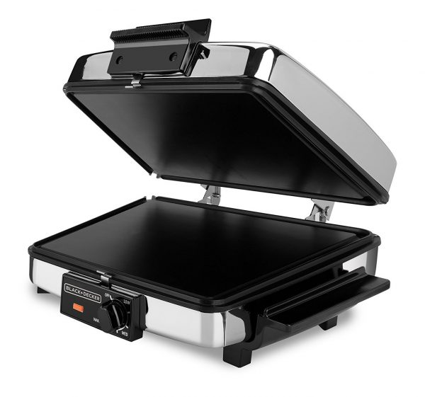 4. BLACK+DECKER 3-in-1 Waffle Maker with Nonstick Reversible Plates, Stainless Steel, G48TD