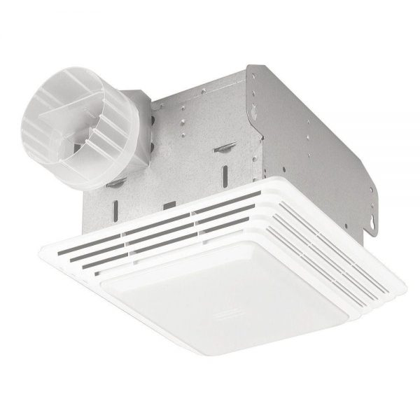 4. Broan 678 Ventilation Fan and Light Combination, 50 CFM and 2.5-Sones