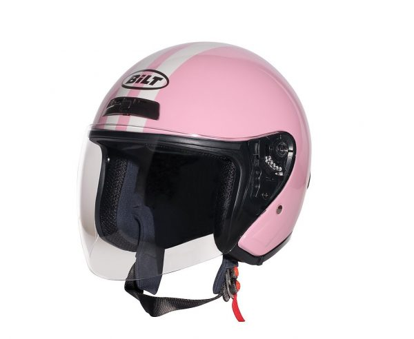 4. CUSTOM BILT Women's Roadster Retro Open-Face Motorcycle Helmet