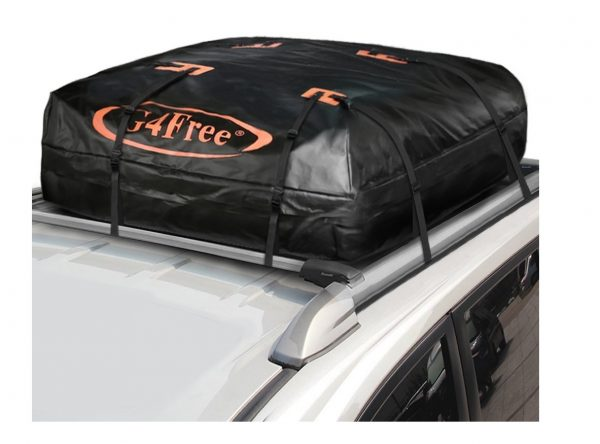 4. G4Free 18.5 Cubic Feet Car Top Carrier, Easy to Install Soft Roof Top Cargo Bag