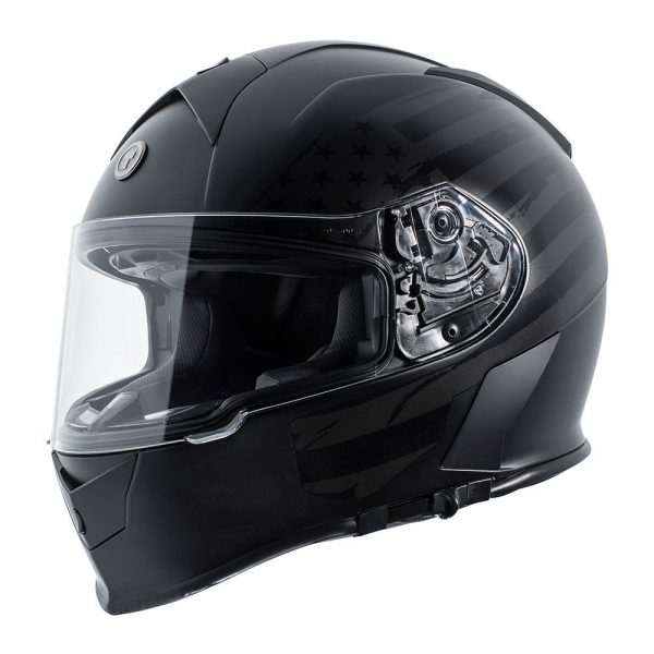 4. TORC T14 Mako Flag Full Face Helmet (Flat Black, Medium)