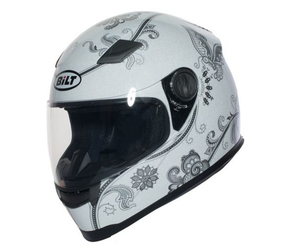 7. BILT Women's Gem Full-Face Motorcycle Helmet - MD,