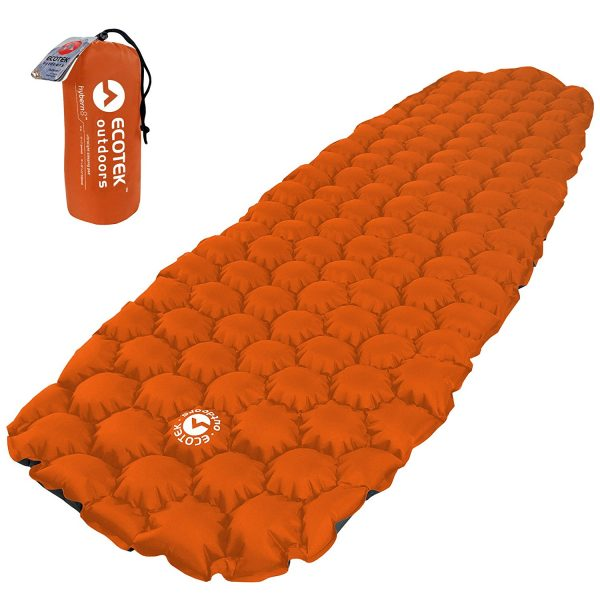 7. EcoTek Outdoors Hybern8 Ultralight Inflatable Sleeping Pad for Hiking Backpacking and Camping