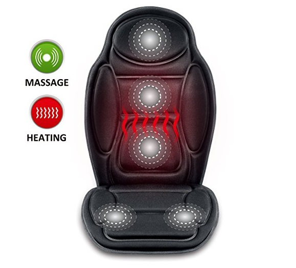 7. Seat Cushion Vibrating massage cushion with heat therapy for back lumbar thighs legs at home office Car