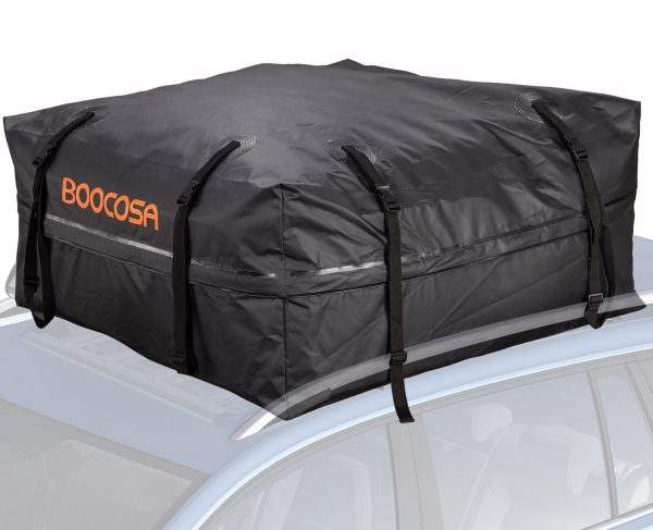7. Waterproof Soft Roof Top Cargo Bag (15 Cubic Feet) with Straps
