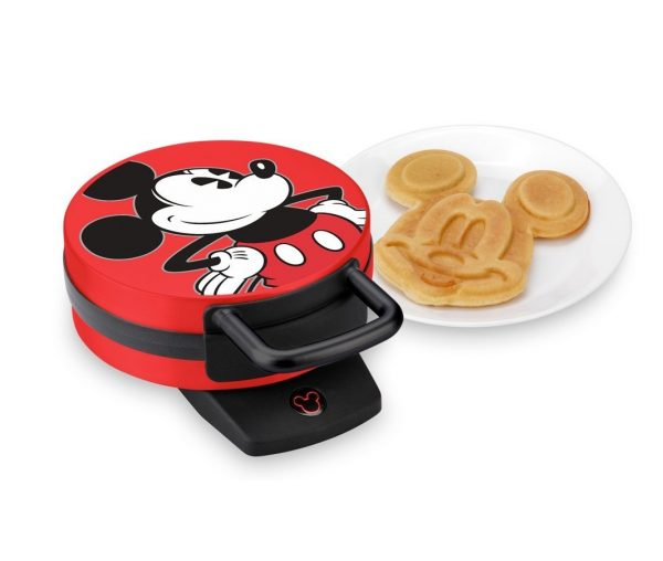 8. Disney DCM-12 Mickey Mouse Waffle Maker, Red