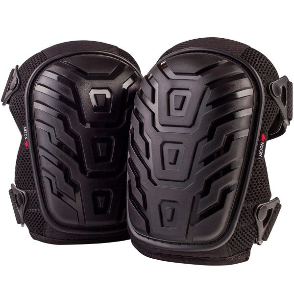 1. ​NoCry Professional Knee Pads with Heavy Duty Foam Padding and Comfortable Gel Cushion, Strong Double Straps and Adjustable Easy-Fix Clips