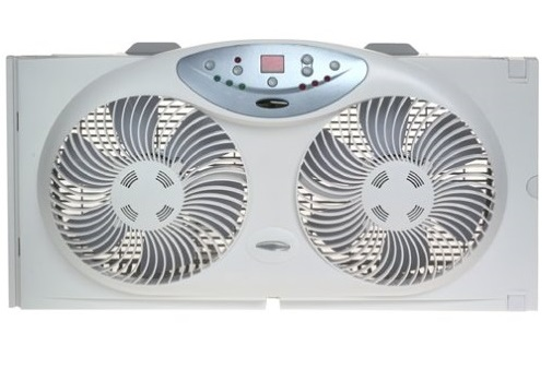 1. Bionaire BW2300-N Twin Reversible Airflow Window Fan with Remote Control
