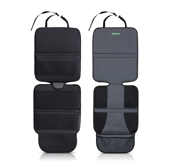1. Drive Auto Products Car Seat Protector (2-Pack) by Ultimate Neoprene Backing is Best Protection for Child & Baby Cars Seats