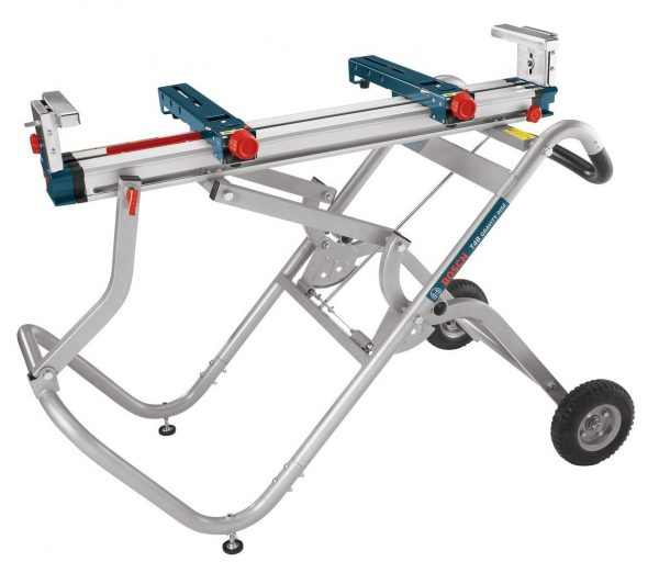 3. Bosch Portable Gravity-Rise Wheeled Miter Saw Stand T4B