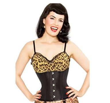 3. PLAYGIRL LABEL Strong Steel Boned Waist Reducing Trainer Underbust Shaper Corset