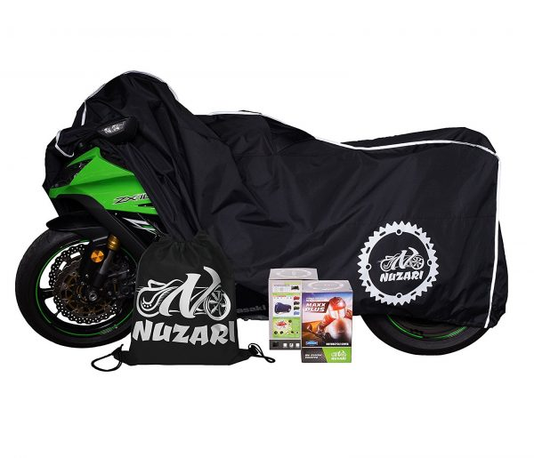3. Premium Heavy Duty Outdoor Motorcycle Cover. Waterproof All Season Polyester