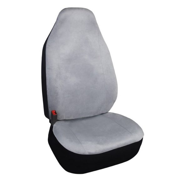5. Leader Accessories One High Back Bucket Seat Protector Grey Car Seat Cover Front