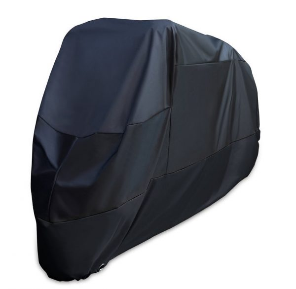 5. XYZCTEM Motorcycle Cover -Waterproof Outdoor Storage Bag,Made of Heavy Duty Oxford Material Fits up to 108 inch Harley Davison and Most motors