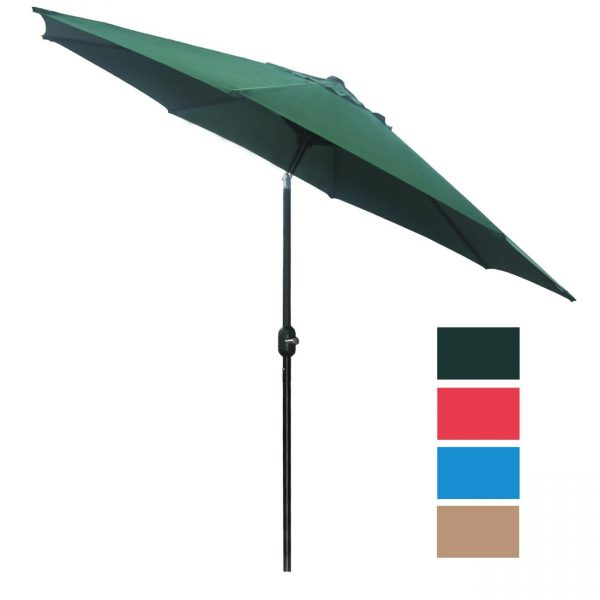 6. Patio Umbrella Outdoor Table Umbrella with 8 Sturdy Ribs