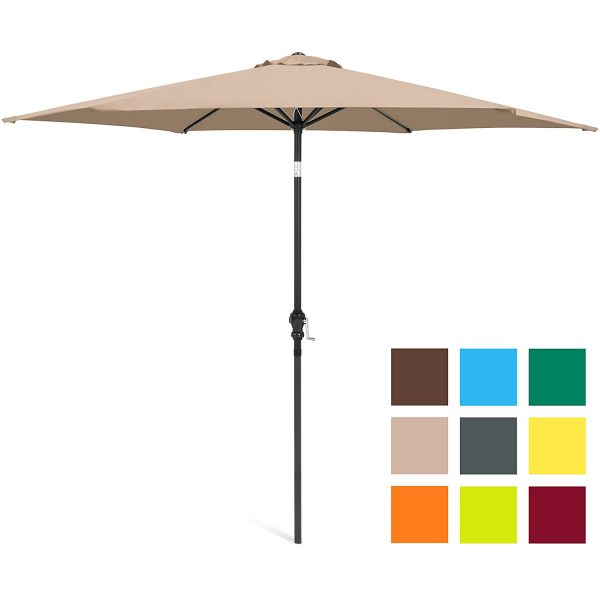 7. Best Choice Products 10ft Steel Market Outdoor Patio Umbrella