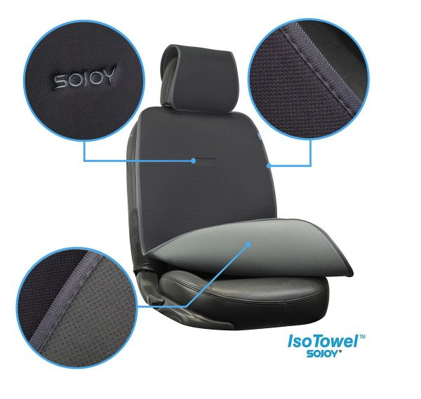7. Sojoy IsoTowel Car Seat Cover. Microfiber Seat Protector