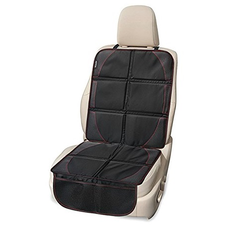 8. Car Seat Protector, Seats Guardian, Hippih Waterproof Automotive Seat Protectors with Thickest Padding, 2 Handy Pockets