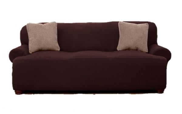 8. Le Benton Sofa Cover, Stretchable, Beautiful Look, Great Protector, Highest Quality Couch Slipcover, Brown