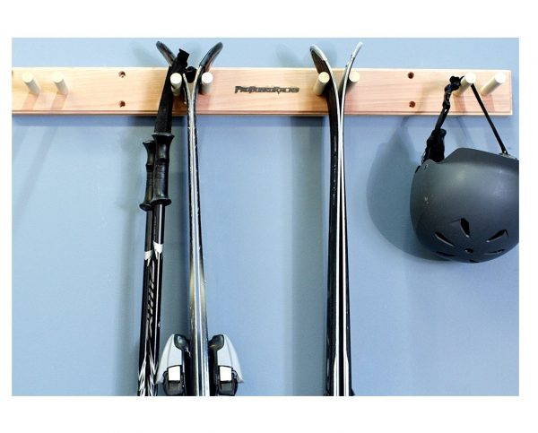 9. Ski Wall Rack Mount -- 4 Vertical Sets of Skis