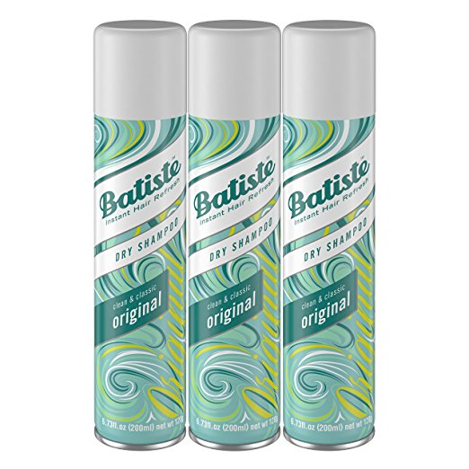 1. Batiste Dry Shampoo, Original Fragrance, 3 Count