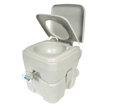 1. Camco Standard Portable Travel Toilet, Designed for Camping