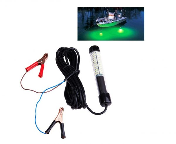 1. Lightingsky 12V 10.8W 180 LEDs 1080 Lumens LED Submersible Fishing Light Underwater Fish Finder Lamp with 5m Cord