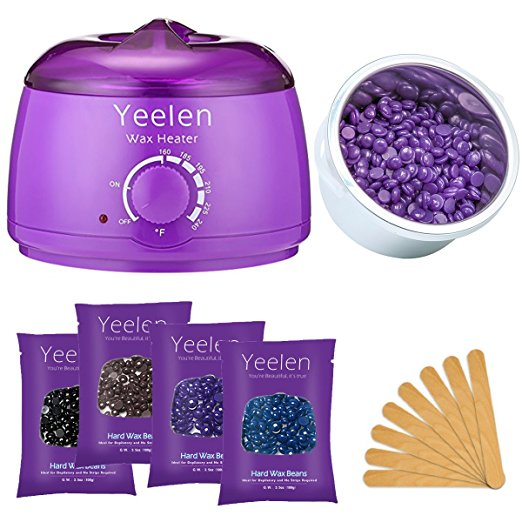 1. Yeelen Hair Removal Hot Wax Warmer Waxing Kit Wax Melts