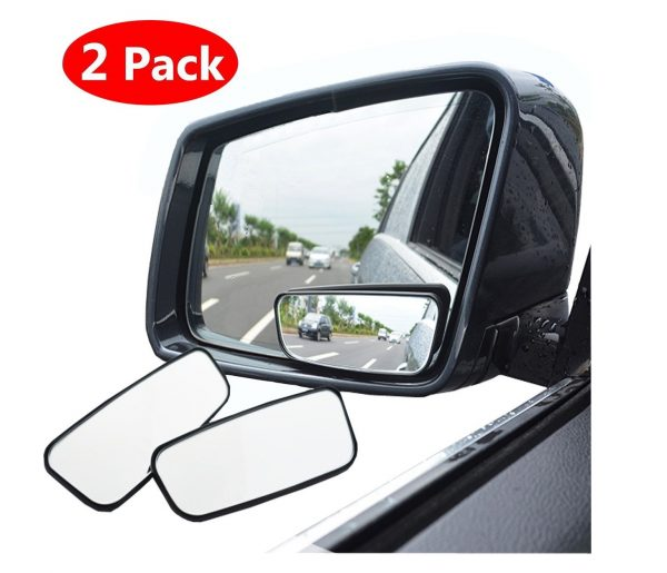 10. Square Blind Spot Mirror, 360° Rotate Adjustable Wide Angle Rear View Mirror HD Glass