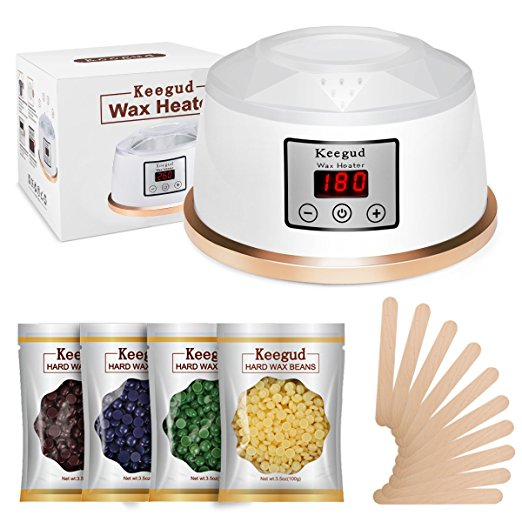 10. Wax Warmer Hair Removal Waxing Kit