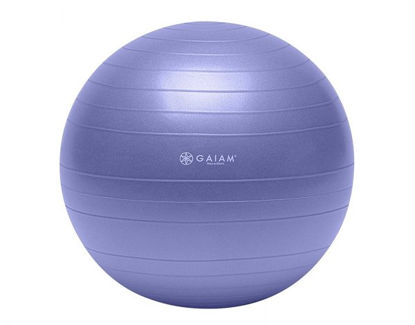 2. Gaiam Total Body Balance Ball Kit - Includes Anti-Burst Stability Exercise Yoga Ball, Air Pump, & Workout DVD
