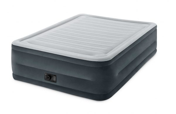 2. Intex Comfort Plush Elevated Dura-Beam Airbed with Built-in Electric Pump