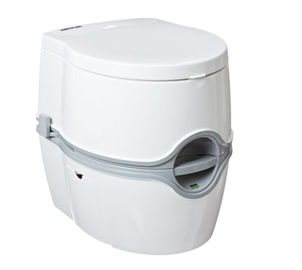 2. Porta Potti Curve Portable Toilet for RV