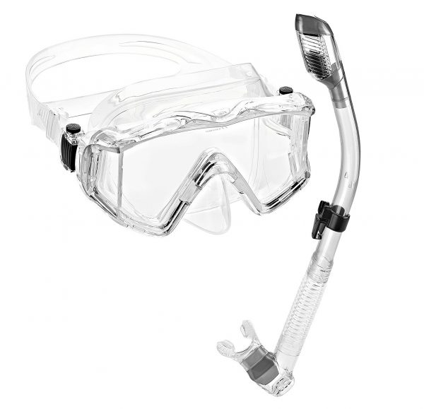 3. Phantom Aquatics Panoramic Scuba Mask Snorkel Set