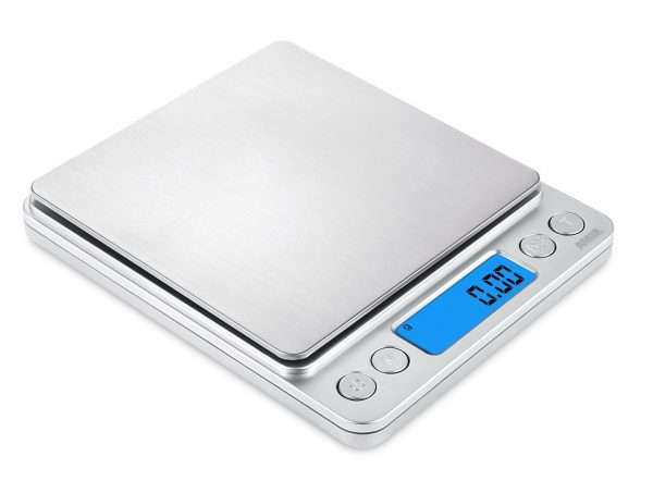 4. AMIR Digital Kitchen Scale, 500g,0.01g Mini Pocket Jewelry Scale, Cooking Food Scale with Back-Lit LCD Display