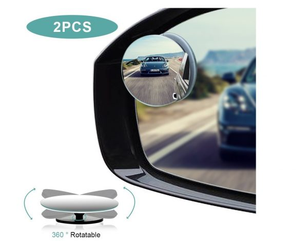 4. Blind Spot Mirrors, HD Glass Convex Rear View Mirror with Adjustable Wide Angle Driver Side Mirror
